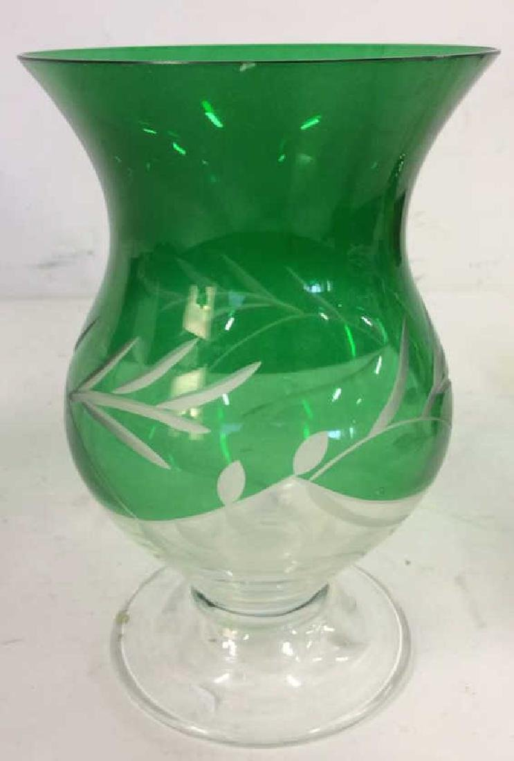 Green Toned Glass & Crystal Tabletop Accessories - 4