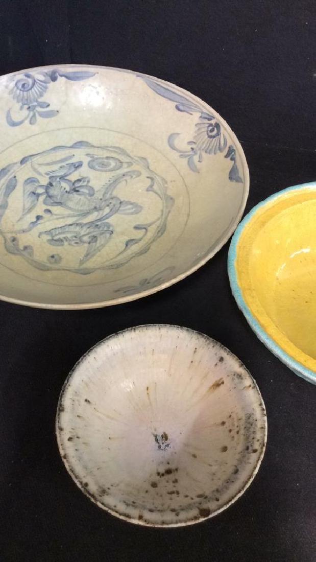 Lot 3 Vintage Assorted Stoneware Bowls - 2