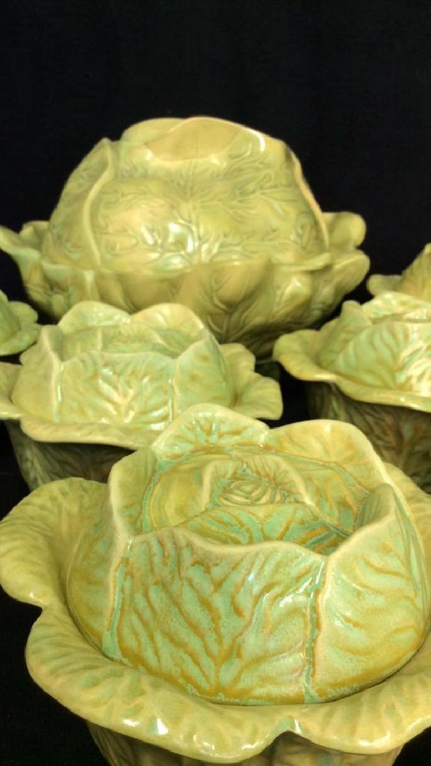 Set 9 Signed Holland Mold Cabbage Figural Dish Set - 2