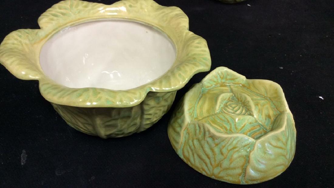 Set 9 Signed Holland Mold Cabbage Figural Dish Set - 5