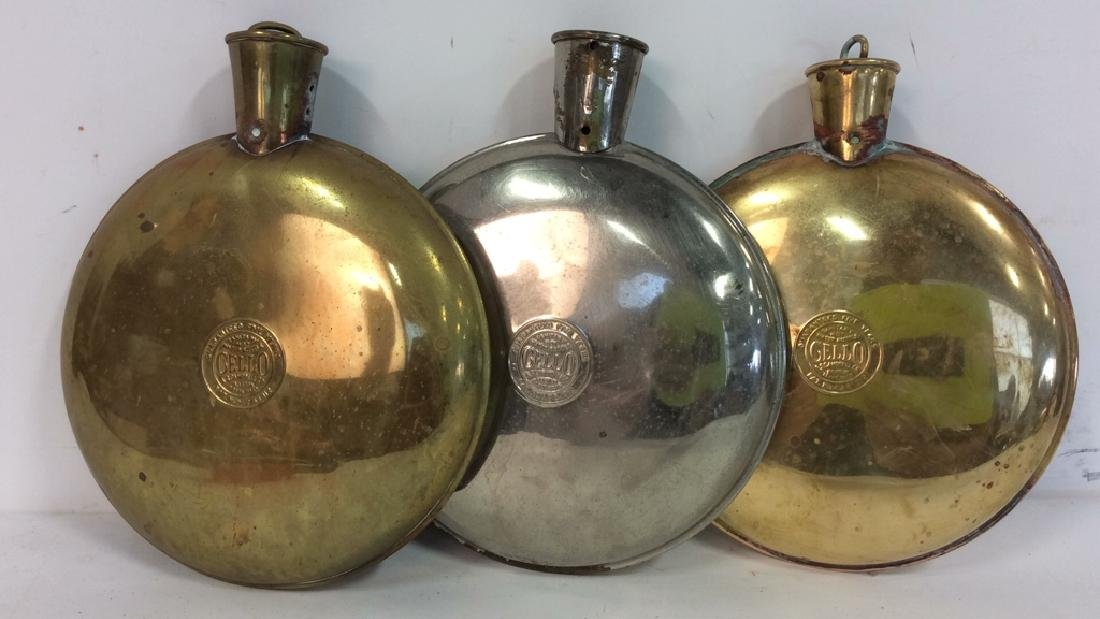 Vintage CELLO A.S Campbell Co. Metal Water Bottles