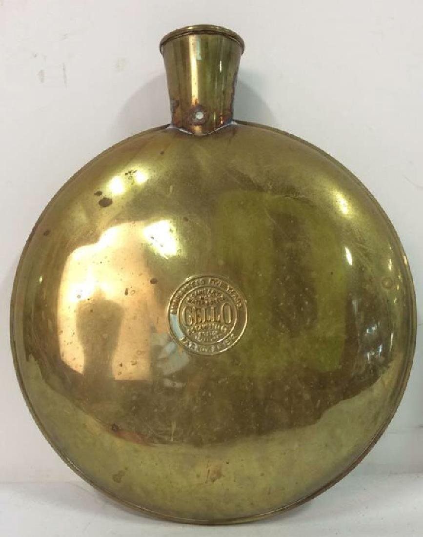 Vintage CELLO A.S Campbell Co. Metal Water Bottles - 5