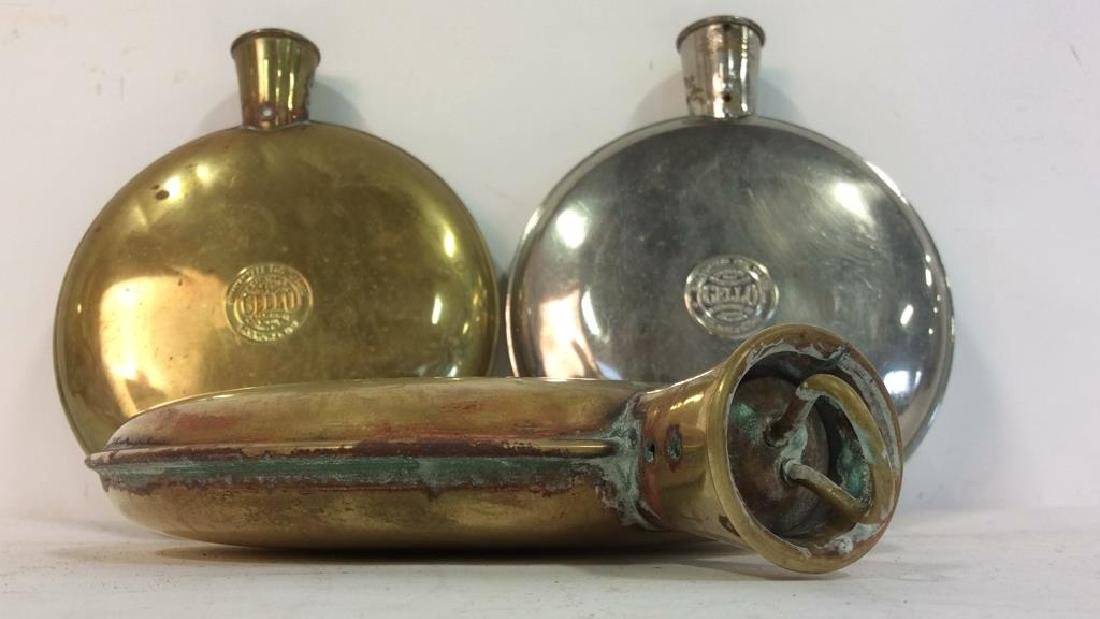 Vintage CELLO A.S Campbell Co. Metal Water Bottles - 6