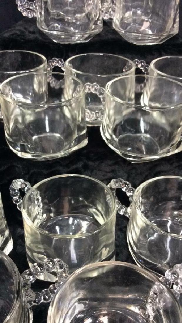 Set 16 Pressed Glass Handled Punch Cups - 2