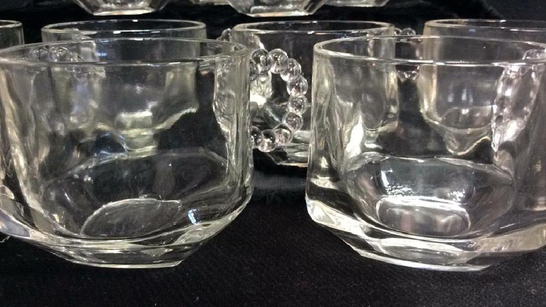 Set 16 Pressed Glass Handled Punch Cups - 3