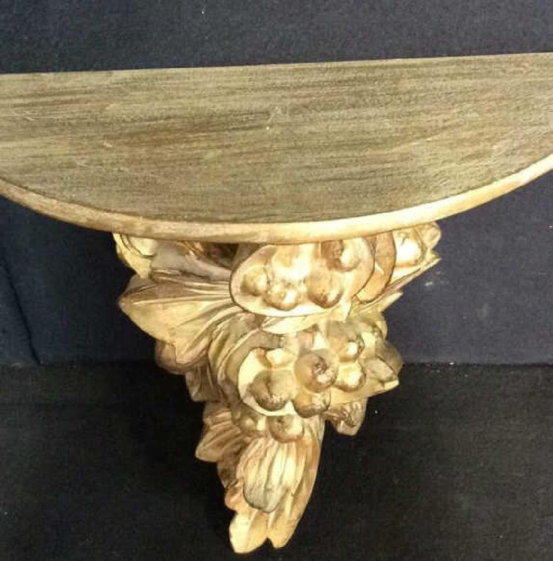 Lot 2  Plaster And Wood Wall Sconces - 9