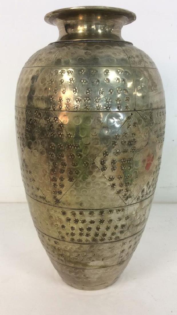 Silver Toned Metal Flower Vase