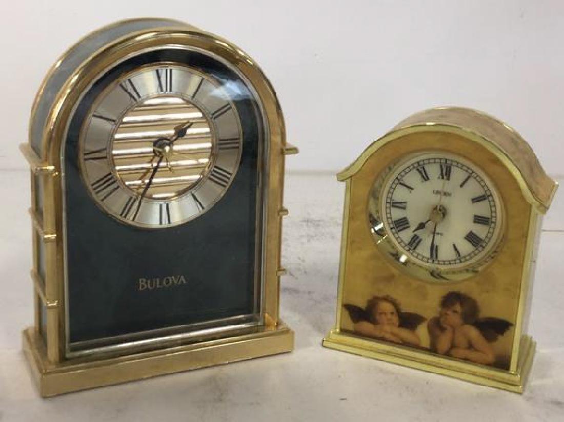 Lot 2 BULOVA & LINDEN Desk Clocks