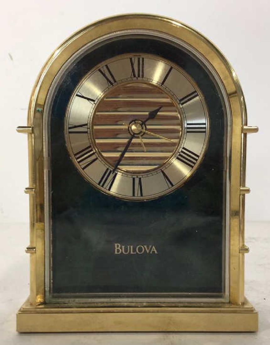 Lot 2 BULOVA & LINDEN Desk Clocks - 2