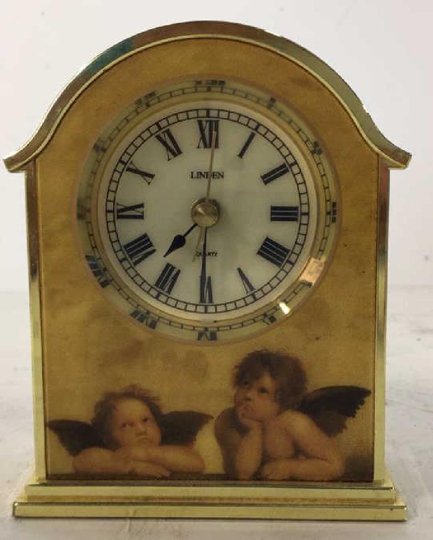 Lot 2 BULOVA & LINDEN Desk Clocks - 3