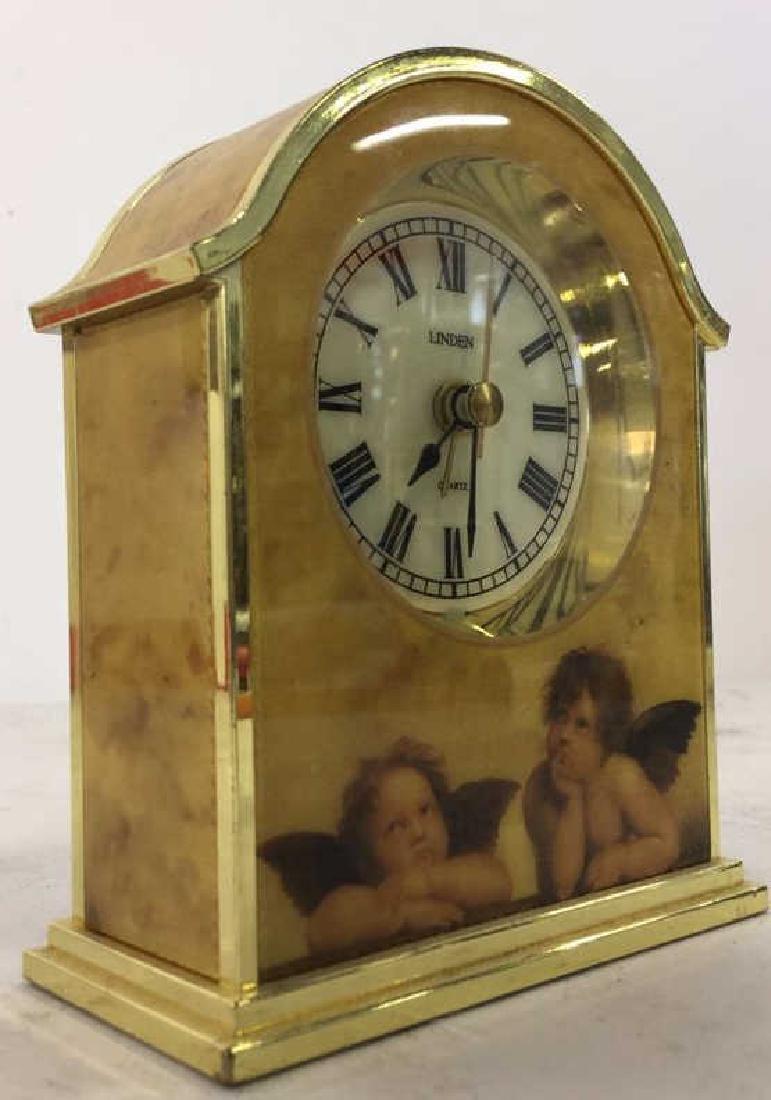 Lot 2 BULOVA & LINDEN Desk Clocks - 4