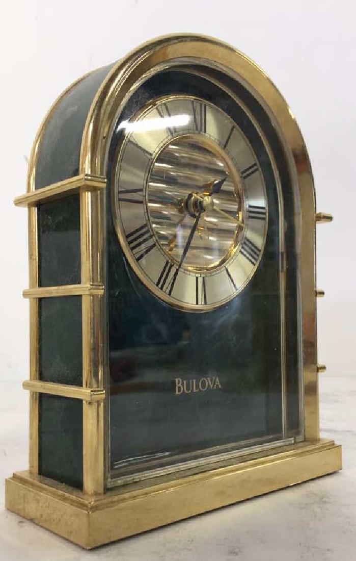 Lot 2 BULOVA & LINDEN Desk Clocks - 5