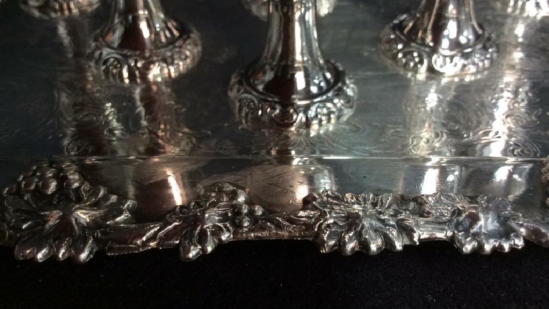 Wallace Baroque Silver Plate Cordial Set - 3