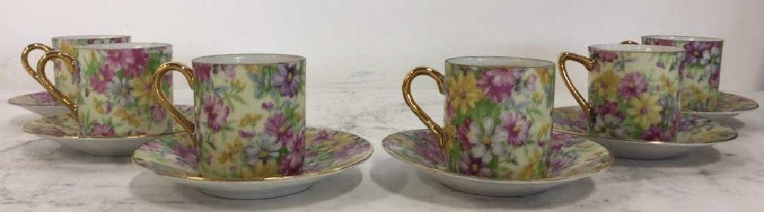 Set 12 ROYAL CROWN Porcelain Cups & Saucers