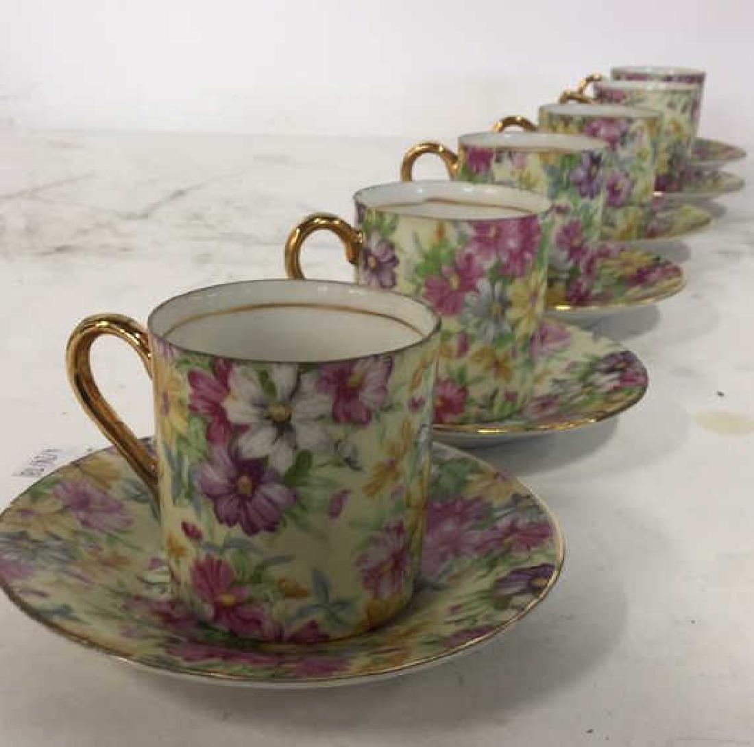 Set 12 ROYAL CROWN Porcelain Cups & Saucers - 2