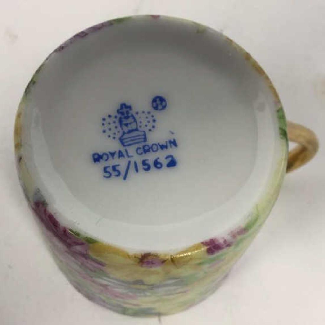 Set 12 ROYAL CROWN Porcelain Cups & Saucers - 7