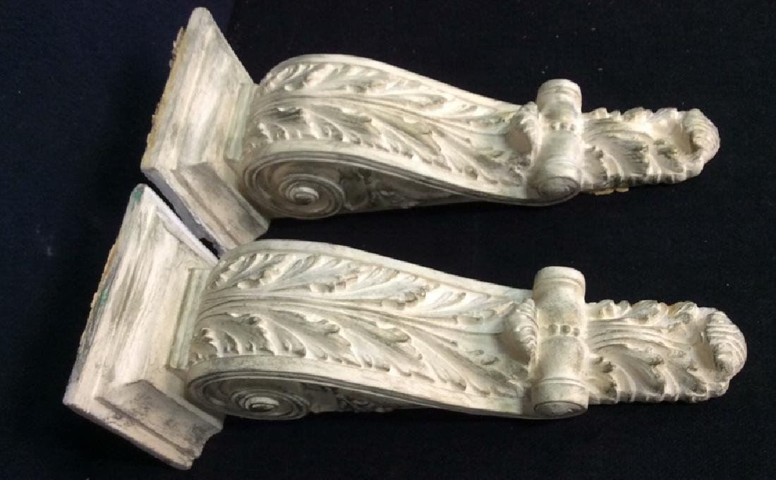 Pair Matching Plaster Filigreed Wall Sconces