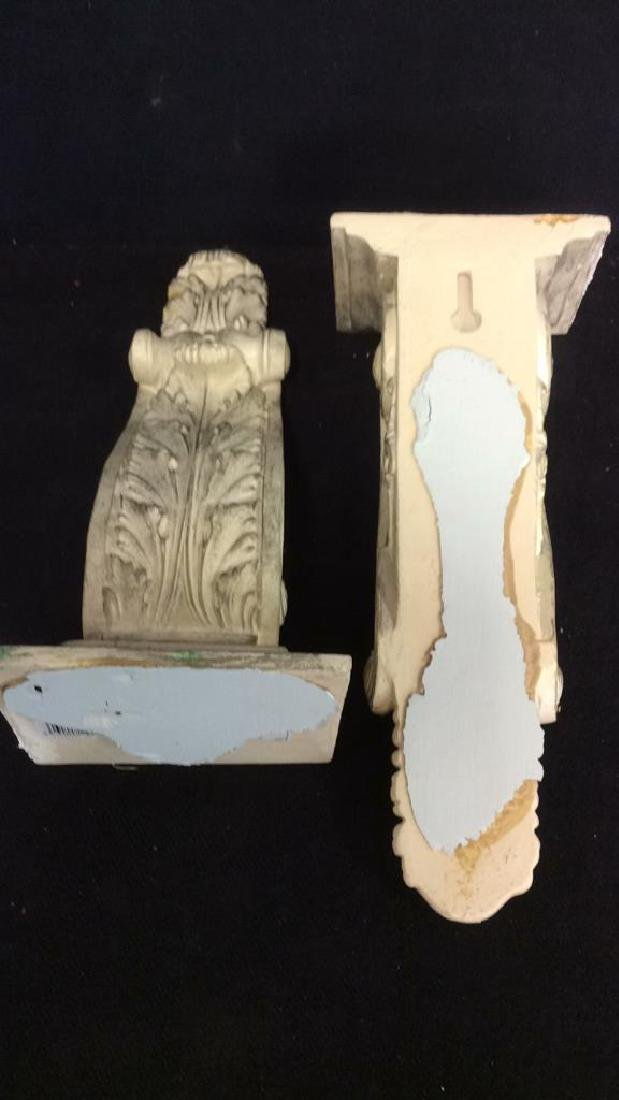 Pair Matching Plaster Filigreed Wall Sconces - 6