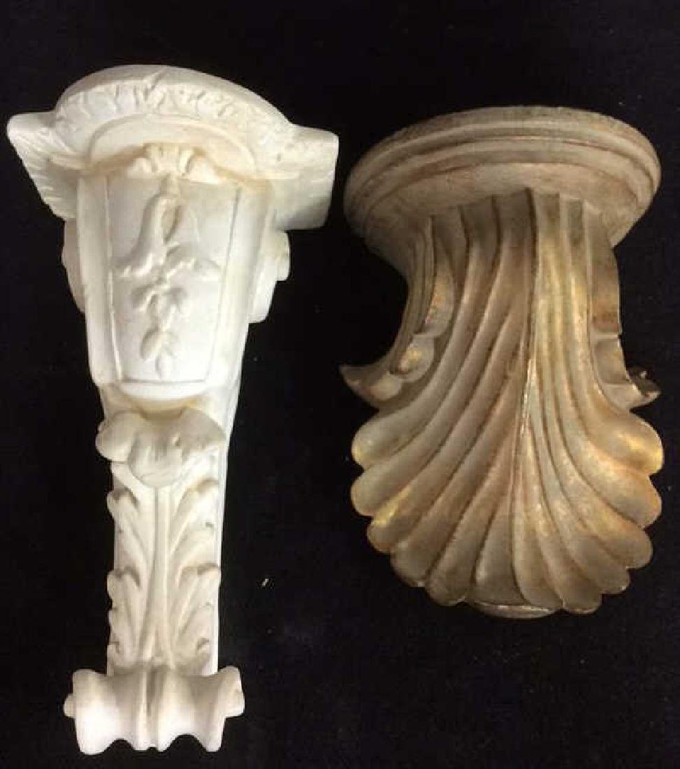 Lot 2 Plaster Filigreed Wall Sconces