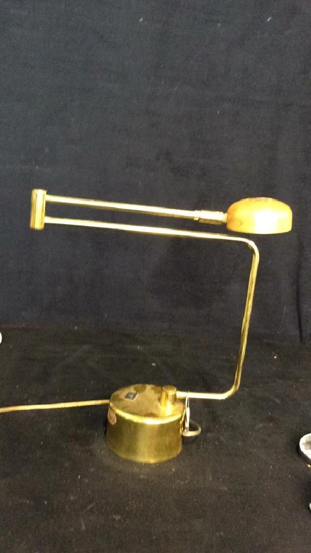 intake Gold Toned  Swing Arm Eyeball Lamp - 10