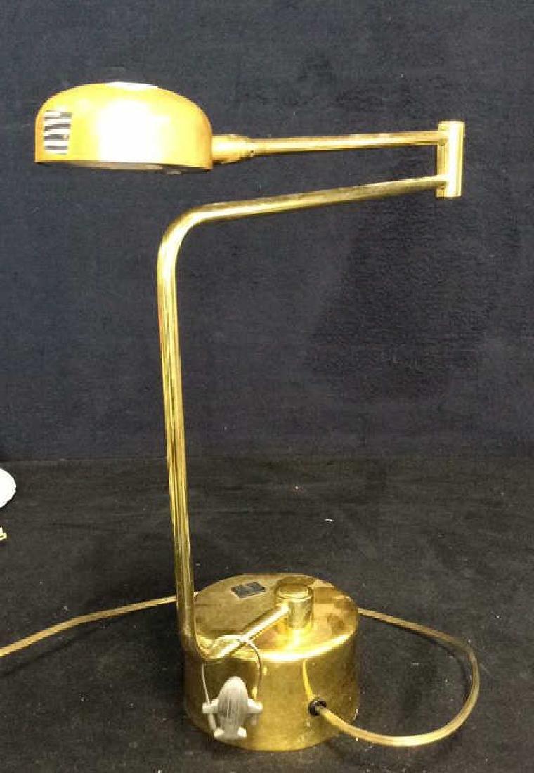 intake Gold Toned  Swing Arm Eyeball Lamp