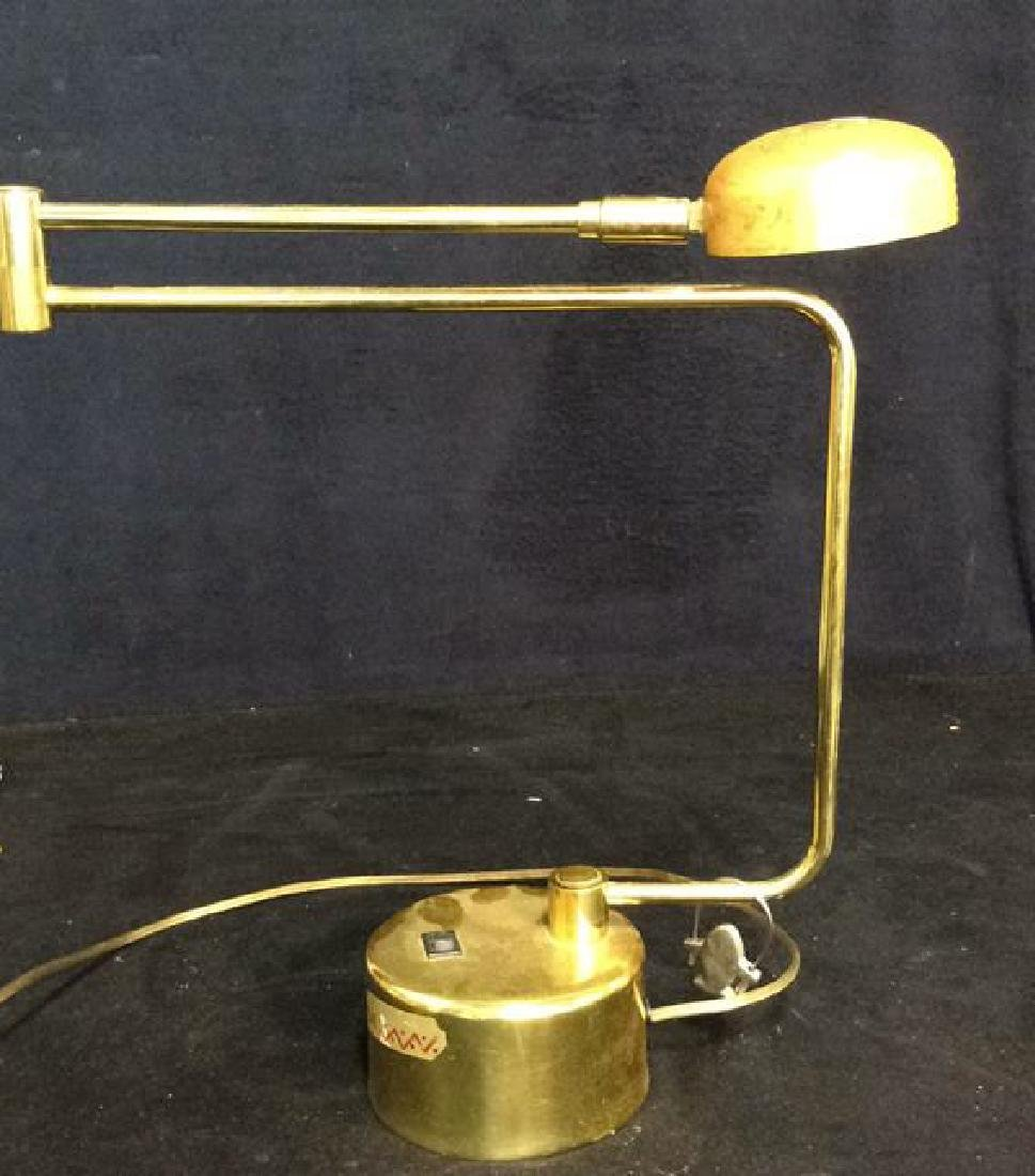 intake Gold Toned  Swing Arm Eyeball Lamp - 2