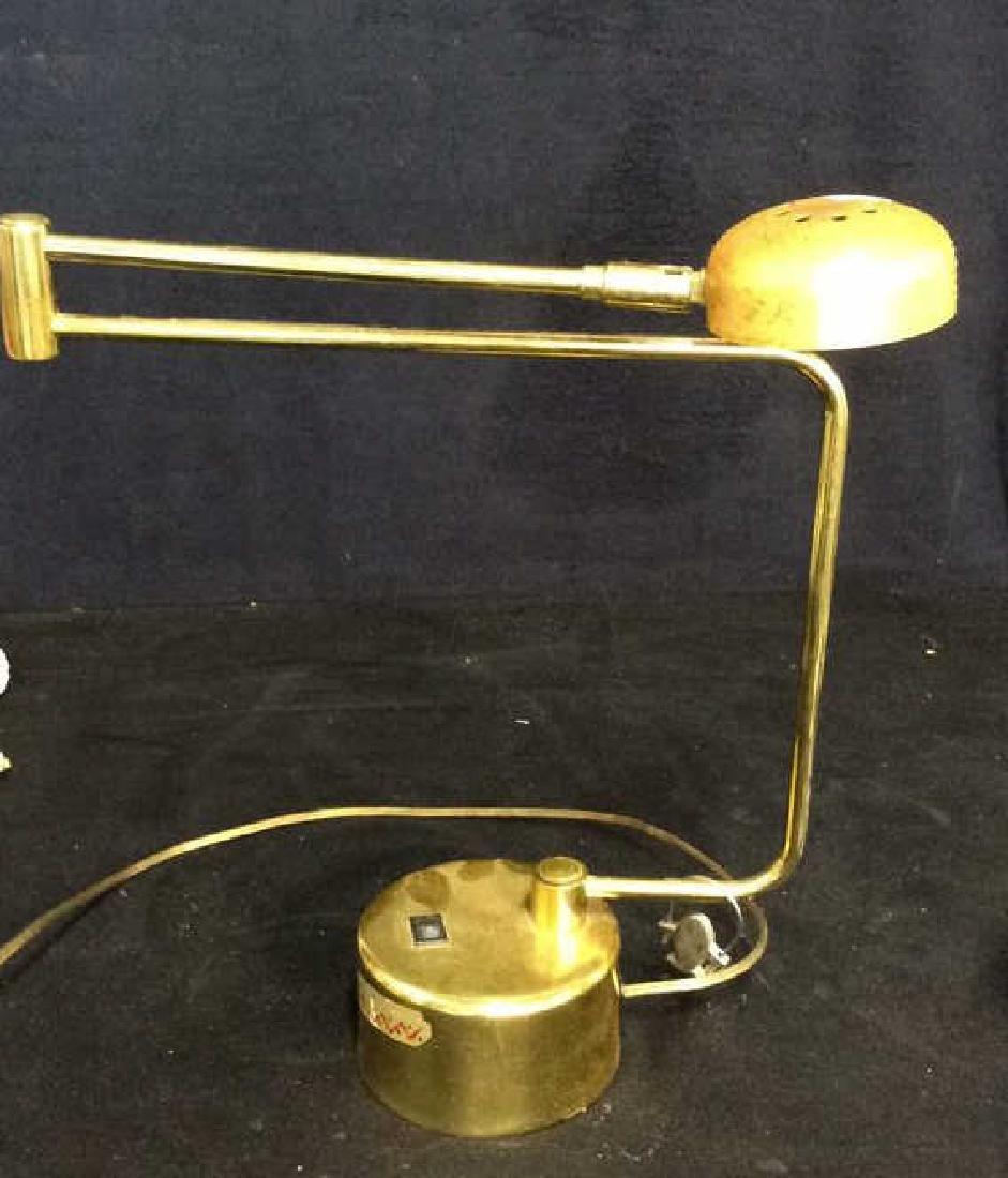 intake Gold Toned  Swing Arm Eyeball Lamp - 3