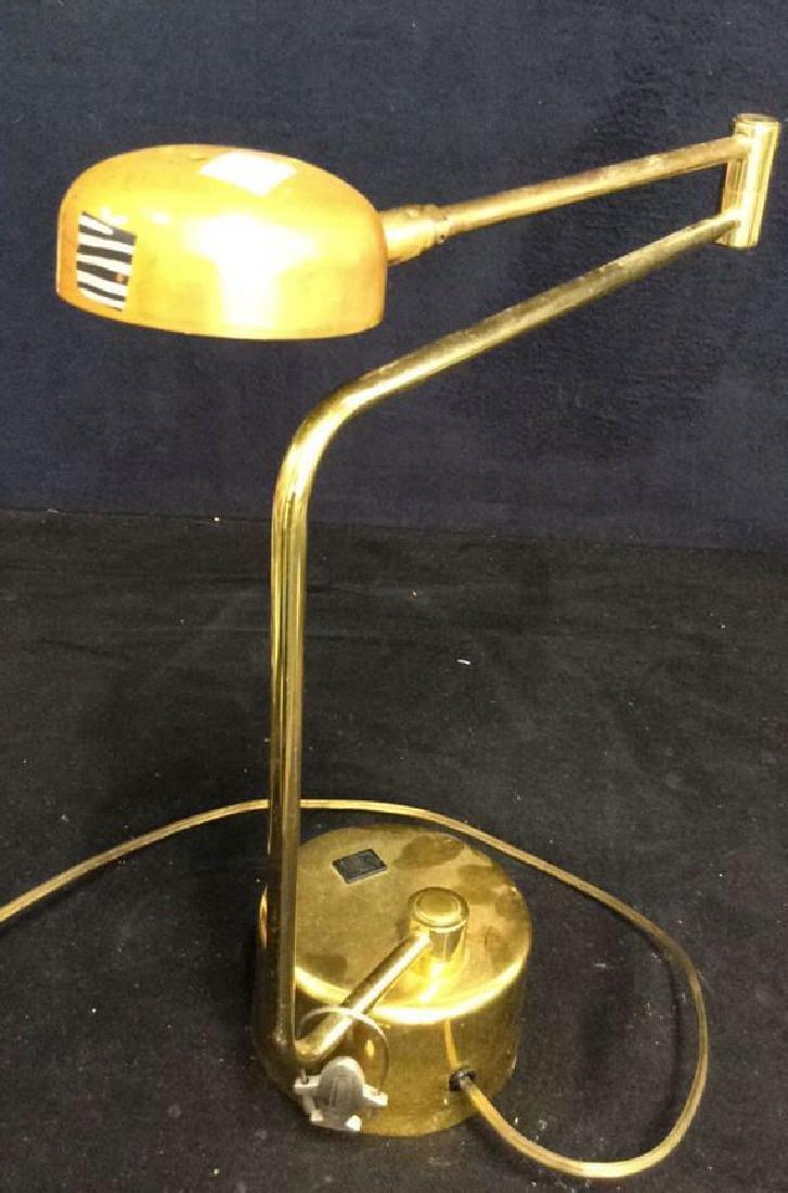 intake Gold Toned  Swing Arm Eyeball Lamp - 6
