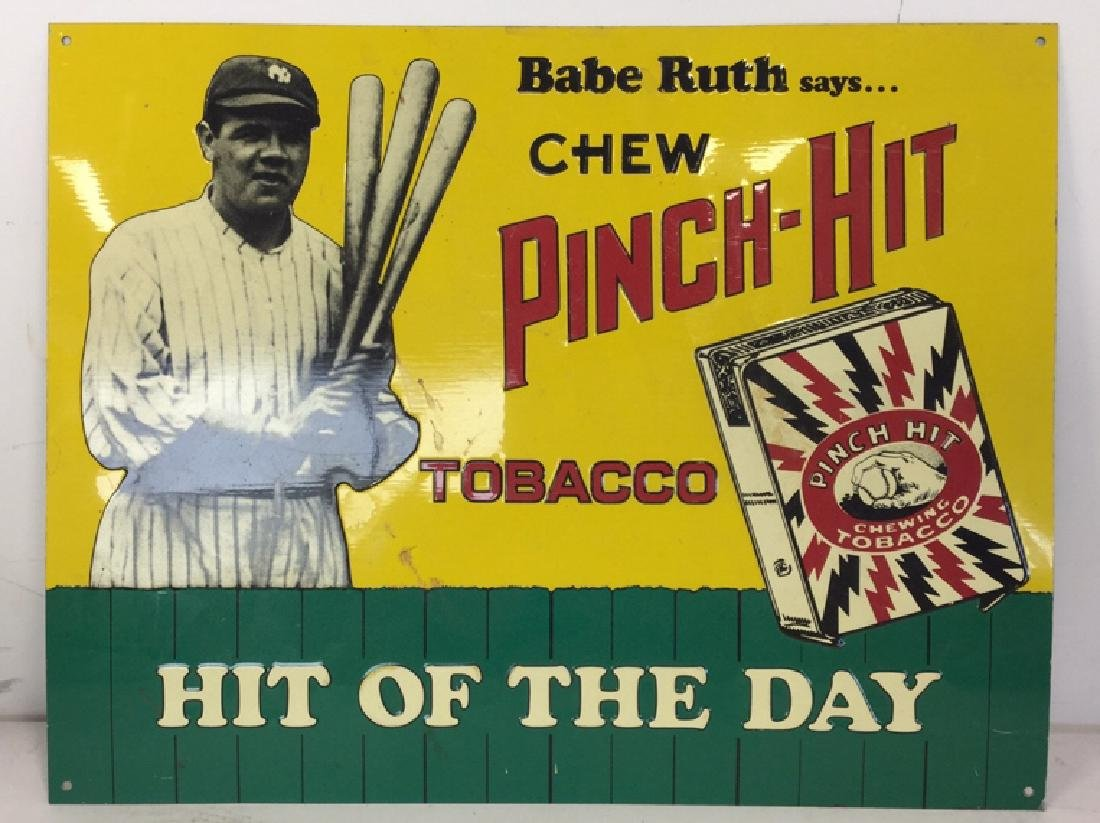 Vintage Metal Baseball Advertising Signs - 2