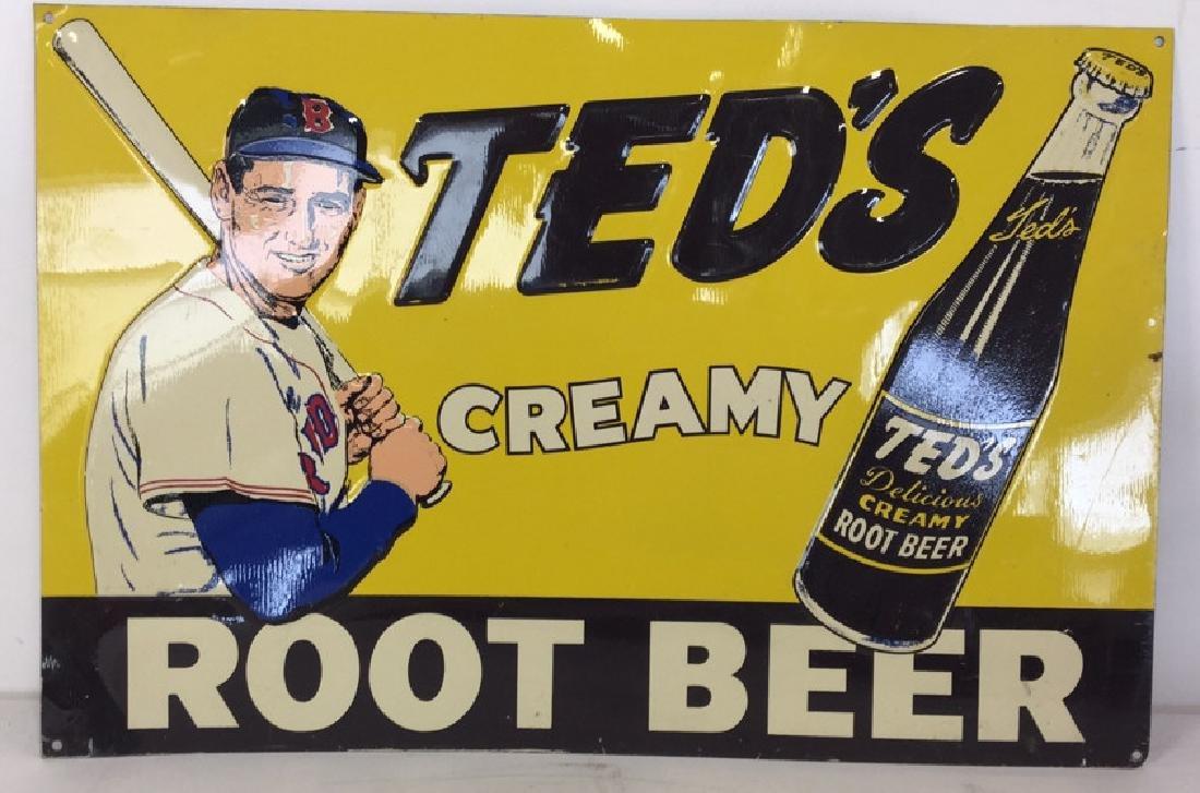 Vintage Metal Baseball Advertising Signs - 3