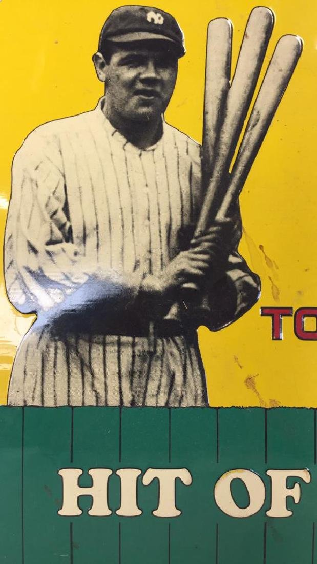 Vintage Metal Baseball Advertising Signs - 6