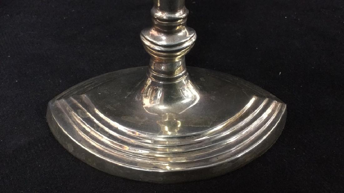 Set 4 Silver Plate Candlesticks - 4