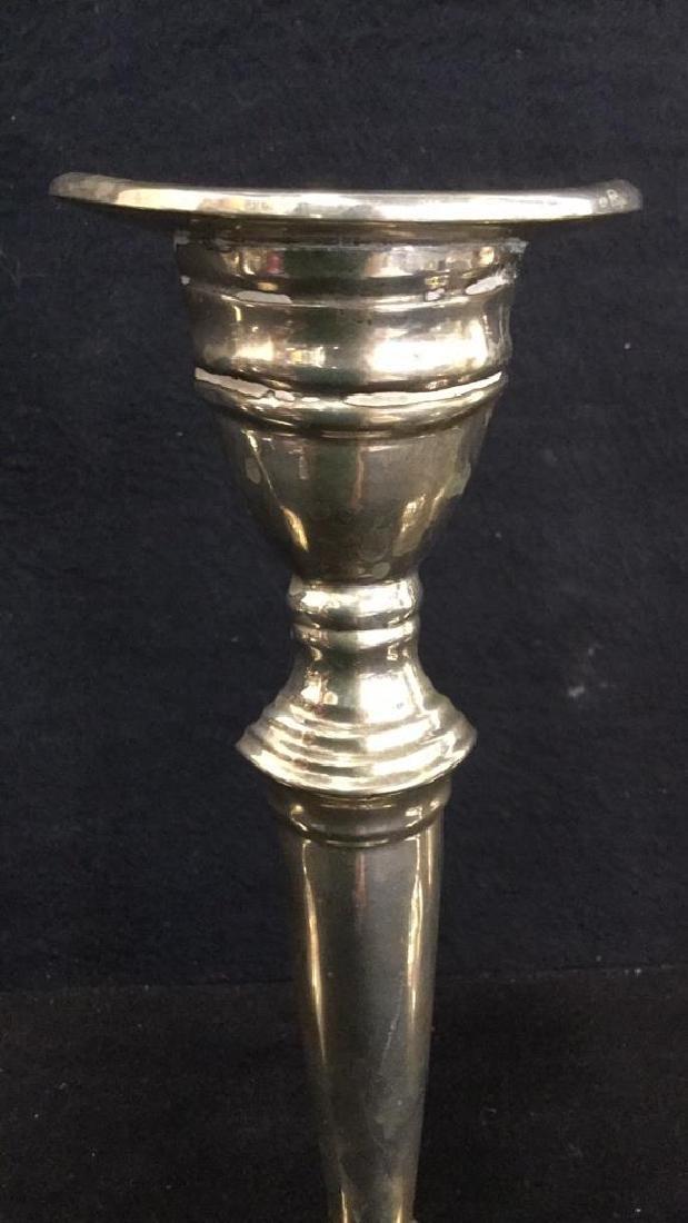 Set 4 Silver Plate Candlesticks - 5