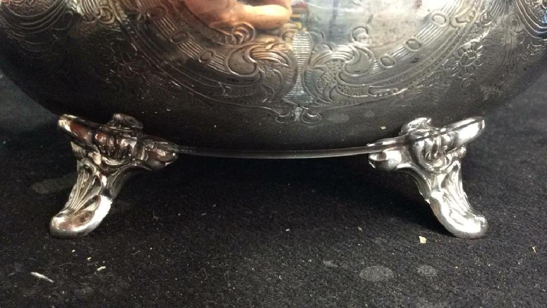 Silver Plate Sheffield Footed Water Pitcher - 3