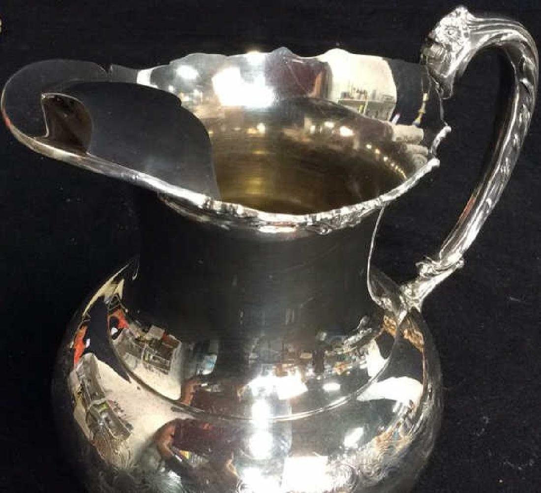 Silver Plate Sheffield Footed Water Pitcher - 7