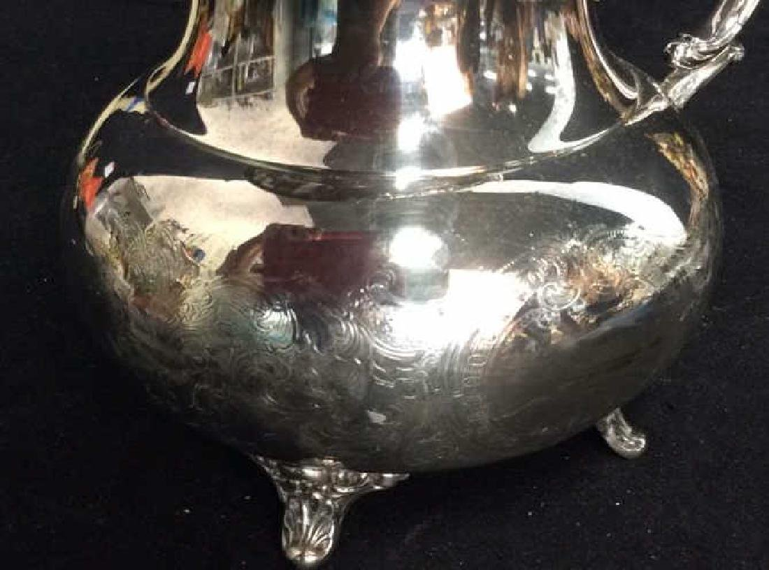 Silver Plate Sheffield Footed Water Pitcher - 8