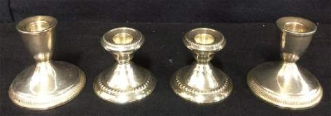 Sterling Silver Weighted Candle Sticks