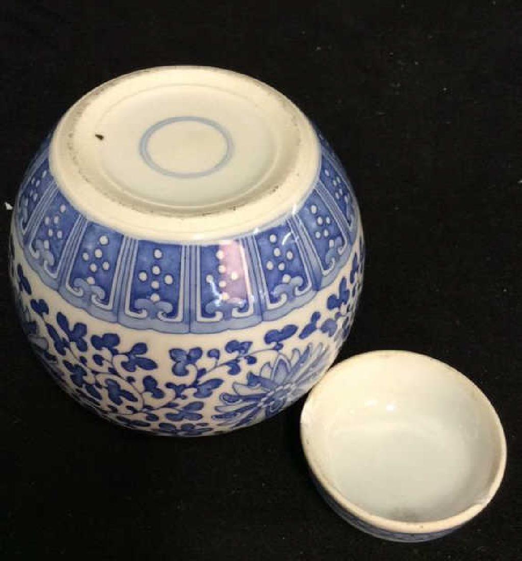 Lot 3 Asian Lidded Vessels porcelain Ceramic - 4