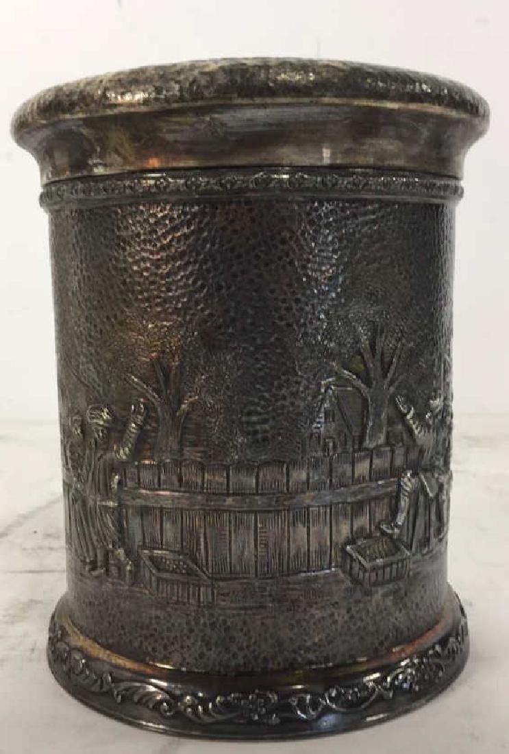 INTL SILVER CO Intricately Detailed Lidded Jar - 5