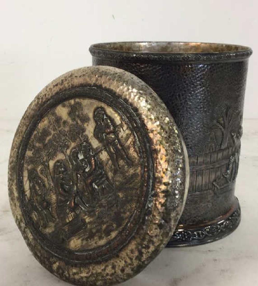 INTL SILVER CO Intricately Detailed Lidded Jar - 6