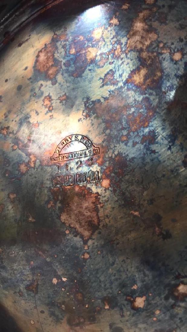 INTL SILVER CO Intricately Detailed Lidded Jar - 8