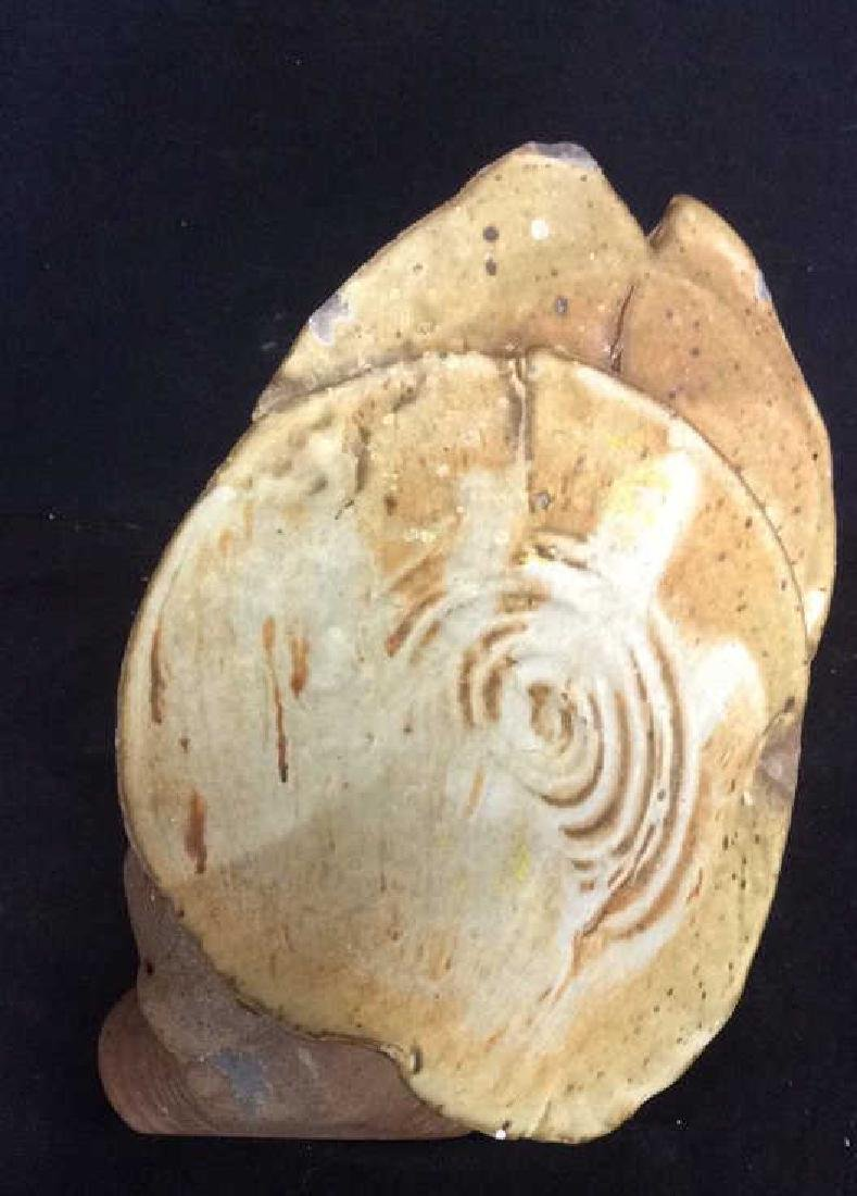 Stoneware Ceramic Mushroom  Hand Formed Statue - 2