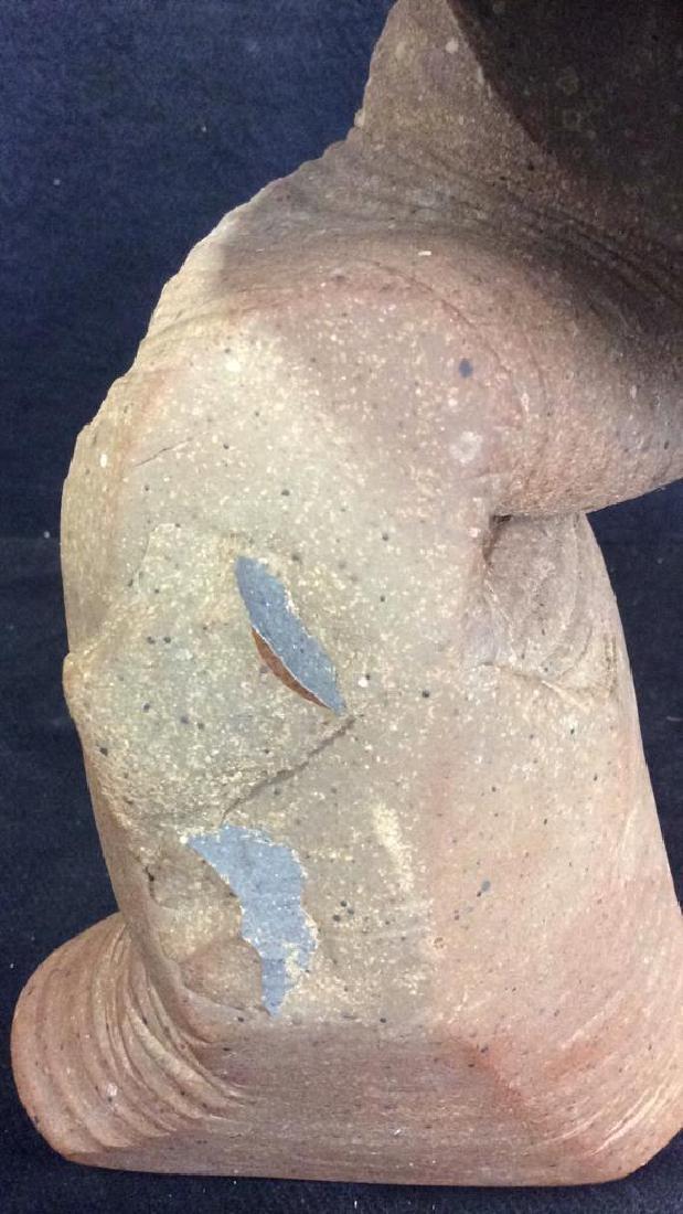 Stoneware Ceramic Mushroom  Hand Formed Statue - 4