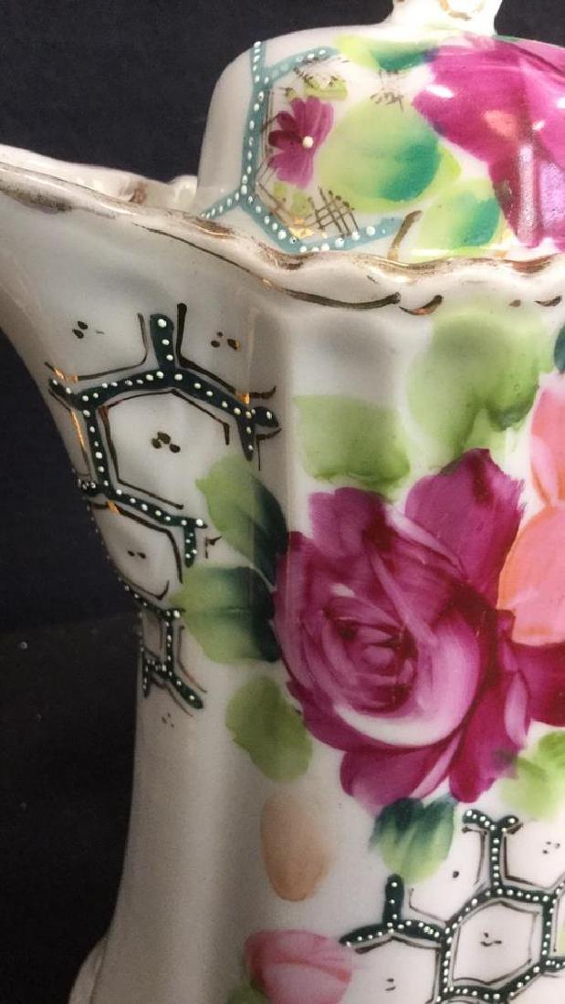 Lot 3 Vintage Porcelain Coffee Pot And Cup - 4