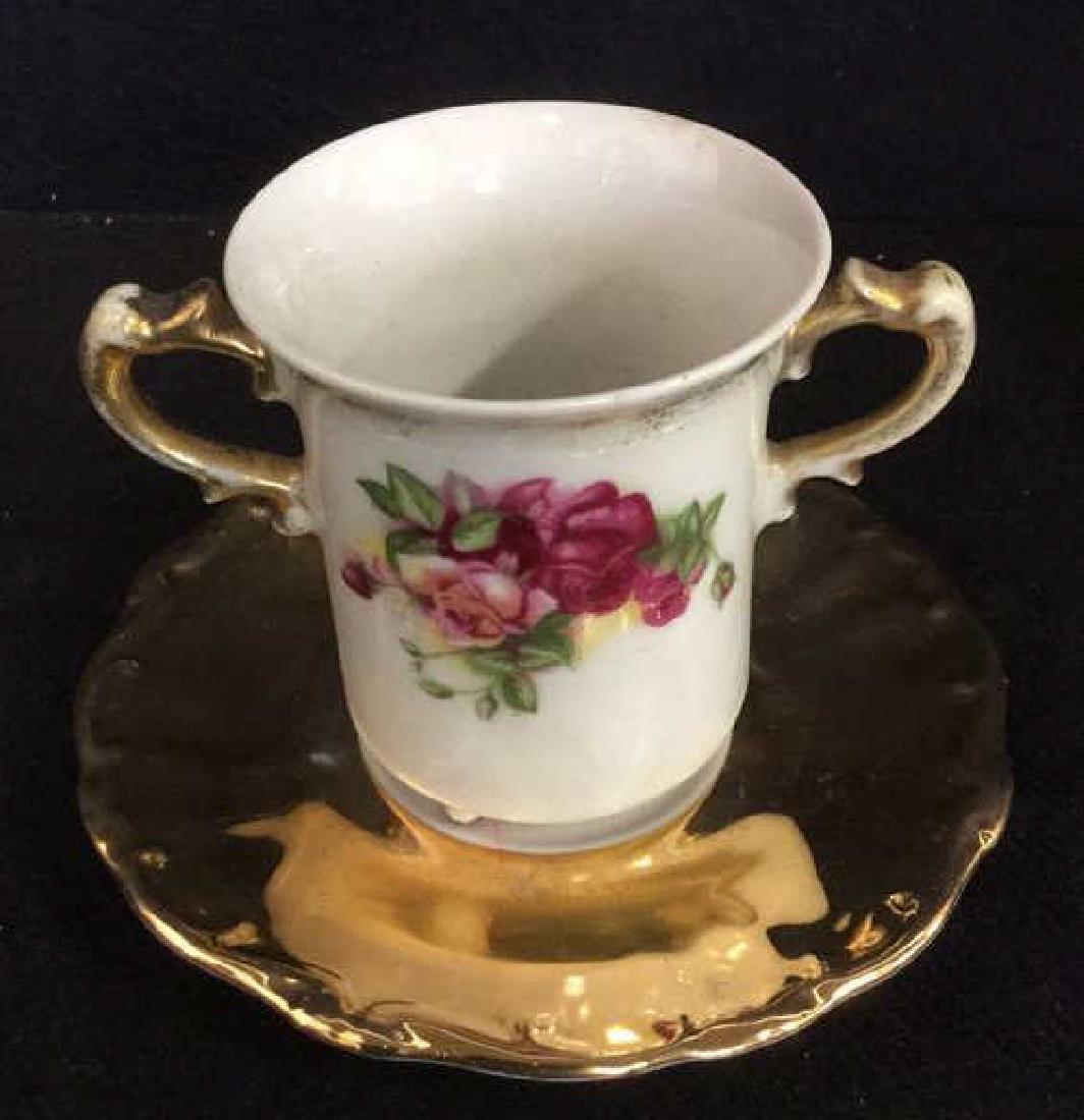 Lot 3 Vintage Porcelain Coffee Pot And Cup - 5