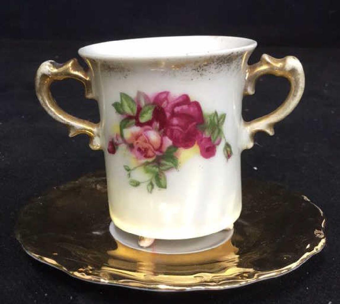 Lot 3 Vintage Porcelain Coffee Pot And Cup - 6