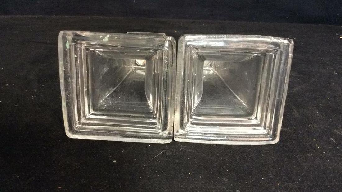 Pair Vintage Tiered Glass Candlesticks - 6