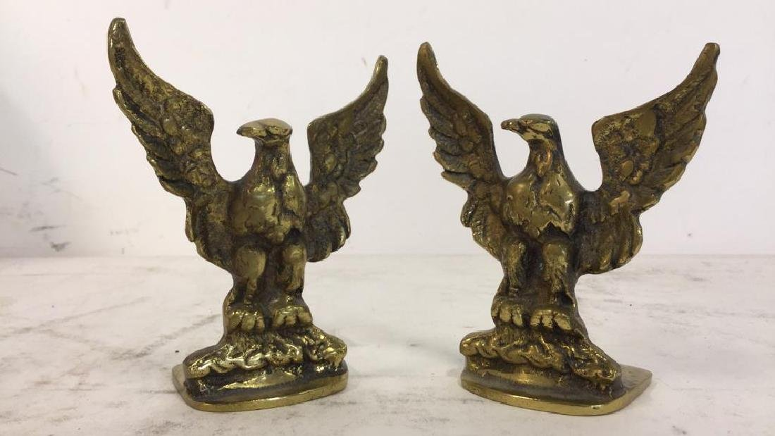 Gold Toned Eagle Shaped Bookends