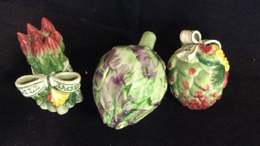 Lot 11 Porcelain Fruit&Veggies Tabletop Acc - 9