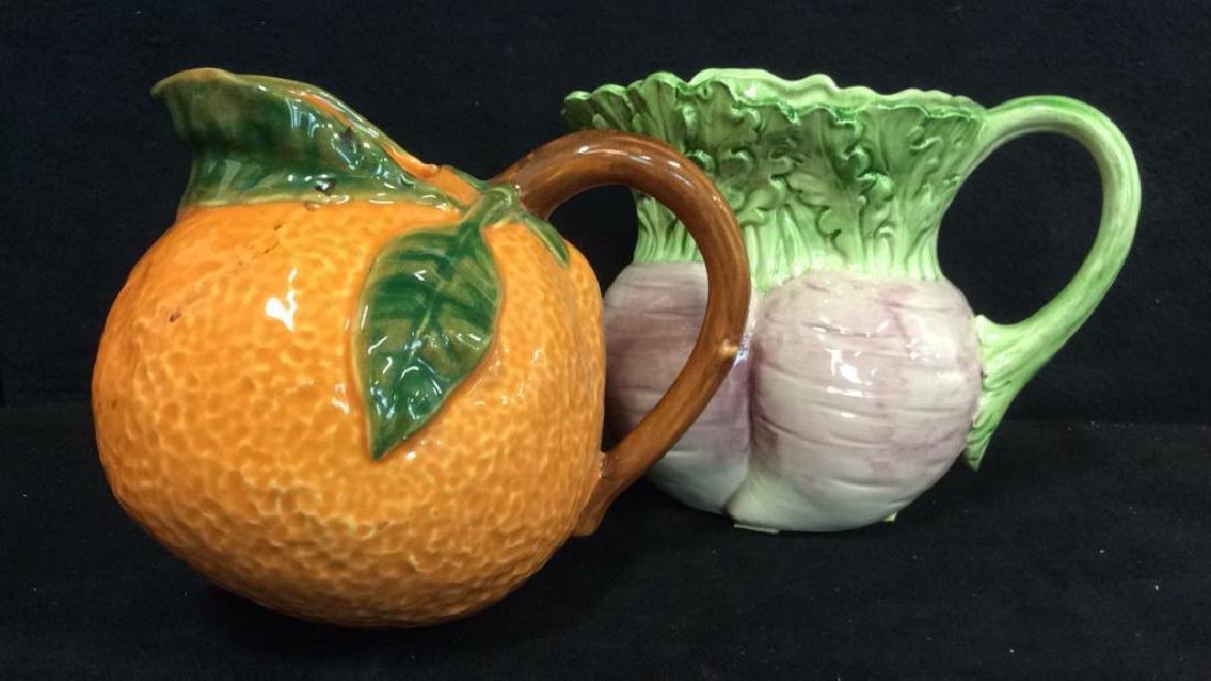 Fruit Figural Vintage Collectible Pitchers - 2